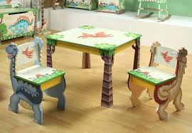 childrens table and chairs set wood kids table and chair set jungle childrens 5 piece wooden