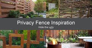 privacy fence inspiration to hide the