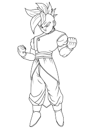 Dragon Ball Z Coloring Pages Free Printable For Of Characters Sheets