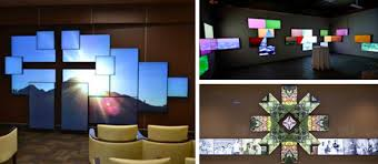 Small Picture Planar Mosaic Architectural LCD Video Walls Planar
