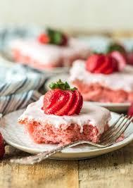 Fresh Strawberry Cake Recipe Strawberry Cream Cheese Icing Video