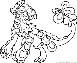 Small Picture Kommo o Pokemon Sun and Moon Coloring Page Free Pokmon Sun and