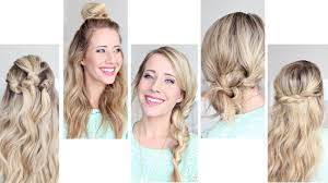 Very Easy Cute Hairstyles Five Easy 1 Min Hairstyles Cute Girls Hairstyles Youtube