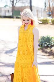 Kate Spade New York Yellow Eyelet Dress Hot Weather Outfits
