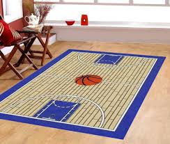 6 7 x 9 2 basketball court ground kids play area rug anti skid backing 695