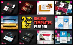 20 Best Resume Templates Free Psd Psddaddycom