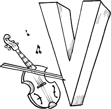 Small Picture alphabet v coloring pages for preschoolers Coloring Point