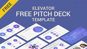 Elevator Free Pitch Deck Powerpoint Template Of 2019 2018