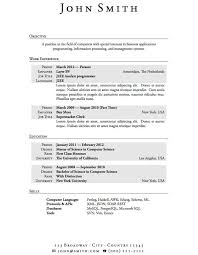 No Work Experience Resume Example Resume Template For College Student With Little Work