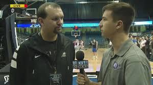 Boys HSBB: Ken interviews Brandon Schafer before Mandan's first ...