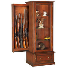 Woodmark Gun Cabinet American Furniture Classics 10 Gun Curio Slider Key Locking