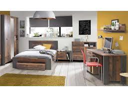 Jugendzimmer Cedric 63 Vintage Braun 6 Teilig Schlafzimmer Bett Nako