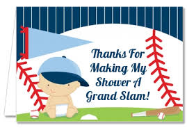 Baby Shower Thank You Cards Future Baseball Player Thank You Notes