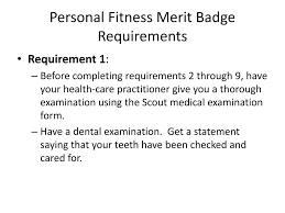 Personal Fitness Merit Badge Chart Physical Fitness Merit Badge Powerpoint All Photos Fitness
