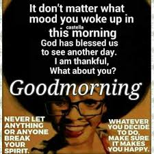 Black Good Morning Quotes