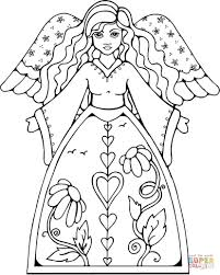 Small Picture Beautiful Angel coloring page Free Printable Coloring Pages