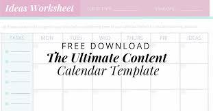 Calendar Template Online Free The Ultimate Content Calendar Template