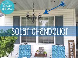 diy solar powered outdoor chandelier
