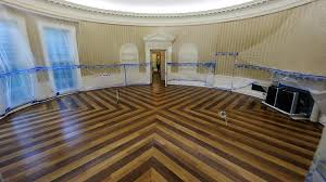 oval office decor. The Oval Office Of White House Sits Emptied All Furniture, Carpet And Other Decor P