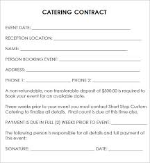 Free Catering Contract Template Under Fontanacountryinn Com
