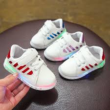 details about toddler baby boy led light up shoes luminous cal sports sneakers shoes