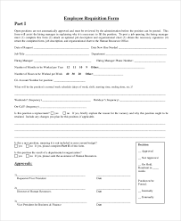employment requisition form template 10 requisition form samples examples templates sample templates