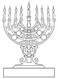 Coloring Page Of Menorah Biblical Holidays Pinterest Hanukkah