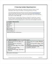 Accident Incident Report Computer Template System Free