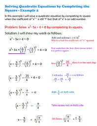 easy way to solve quadratic equations
