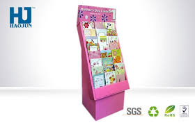 Plastic Paper Display Stand Inspiration Varnishing Pink Cardboard Display Stand Pos Corrugated Plastic