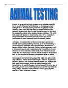 should animal testing be banned gcse english marked by animal testing