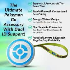 Mua MEGACOM Dual Catchmon Pokemon Go Plus Auto Catch Accessory Always On -  Wireless Bluetooth for Android Phone & iPhone - Automatic Pokemon Catcher  Supports Dual ID Accounts (White) trên Amazon Mỹ