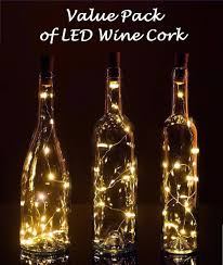 wine lighting. Buy 10 LED Lights Wine Bottle Cork Lights, Battery Operated Fairy Warm White Copper Strand String Wedding Table Lighting - Gbandwood