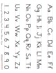 Printable Zaner Bloser Alphabet Chart Printable Handwriting Chart Primarylearning Org