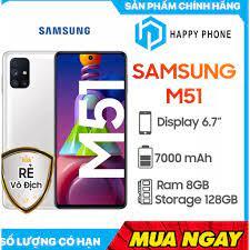 Điện thoại Samsung Galaxy M51 Snapdragon 730G, 4 camera chính, pin 7000mAh  cực khủng - Hàng Chính Hãng