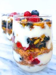 make ahead protein packed fruit yogurt parfaits the lemon bowl