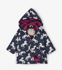 Hatley Baby Size Chart Playful Horses Colour Changing Baby Raincoat