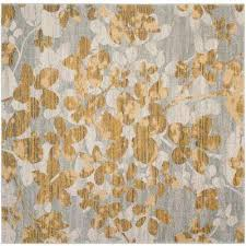 evoke gray gold 7 ft x 7 ft square area rug