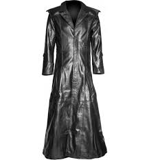 saint inferno goth leather coat for men