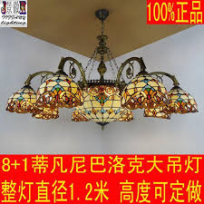 tiffany lamps large european multi colored glass chandelier baroque villa floor large living room lighting ideas rectangle chandelier rope