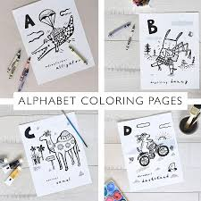 Alphabet coloring pages printable coloring pages for kids: Coloring Book Pages Animal Alphabet A Z Wee Gallery Eco Friendly High Contrast Newborn Baby Toys