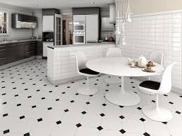 Black & White kitchen Floor Tile