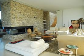 surprising decorating ideas with stone wall in living room splendid design ideas using rectangular brown