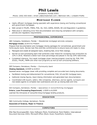 Mortgage Loan Processor Resume Sample Monster Com Underwriter C
