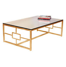 somrig contemporary antique gold leaf boutique coffee table kathy kuo home