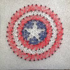 Nail String Art Designs Captain America String Art 5 Steps With Pictures
