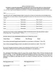Hippa Release Forms Form Hipaa Release Form 9