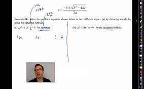 common core algebra ii unit 8 lesson 6 the quadratic formula