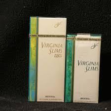 Virginia Slims Menthol Lights New Packaging Virginia Slims 120s Menthol Gold Compared To Virginia Slims