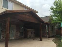 two story house needed patio cover to